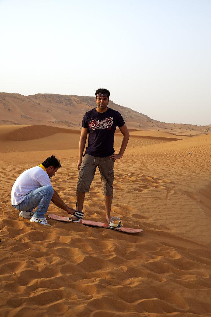 Preparation for sandboarding