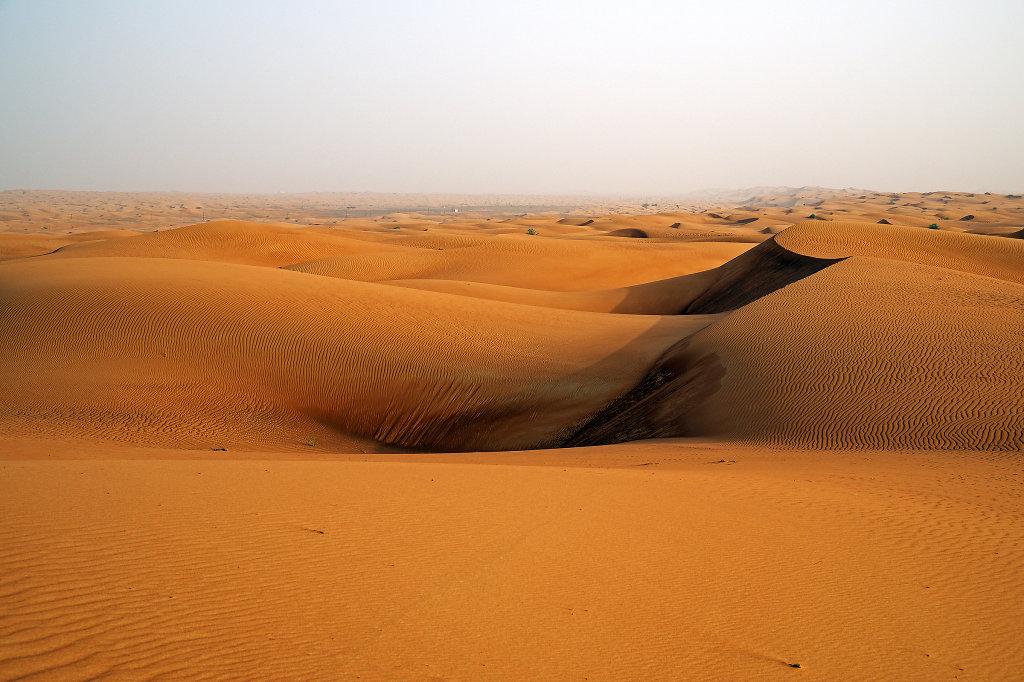 Endless sand dunes
