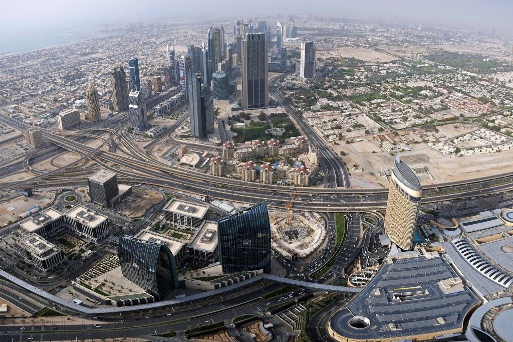 Panorama of Bur Dubai