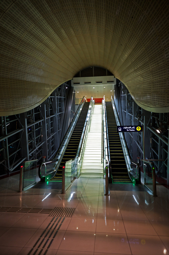 Entrance to the Jumeirah Lake Towers Metro station