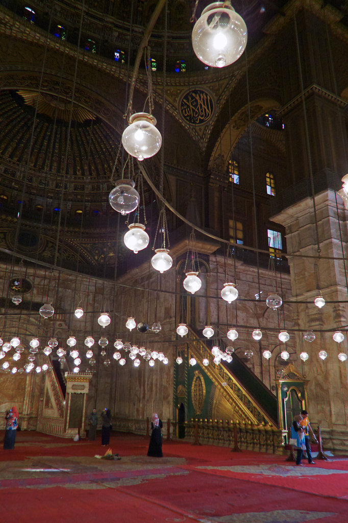 Inside the Mosque of Muhammad Ali