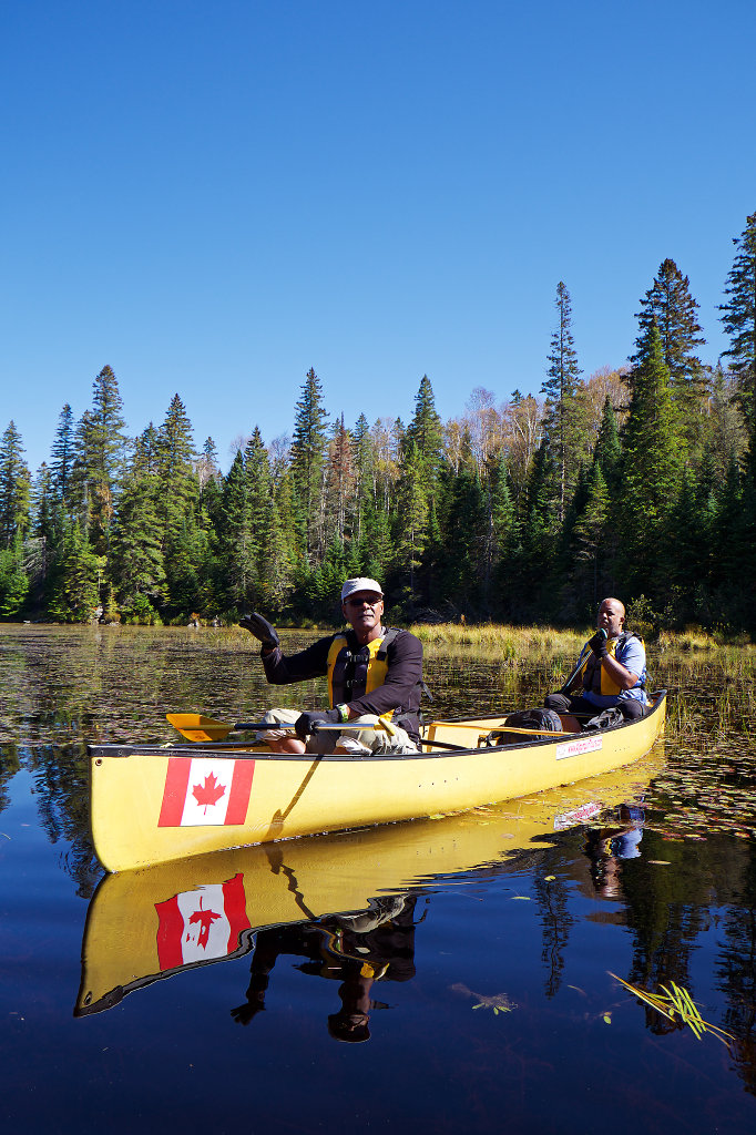 Canoeing on the Tom Thomson Lake