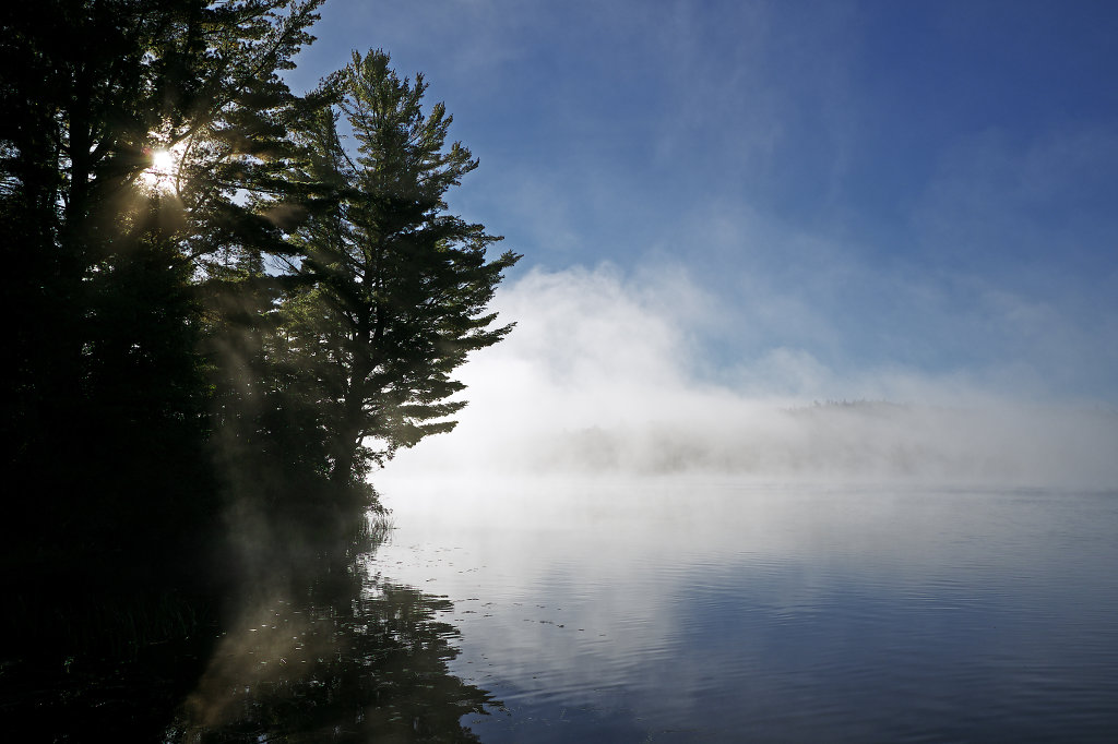 Misty moods at Tom Thomson Lake