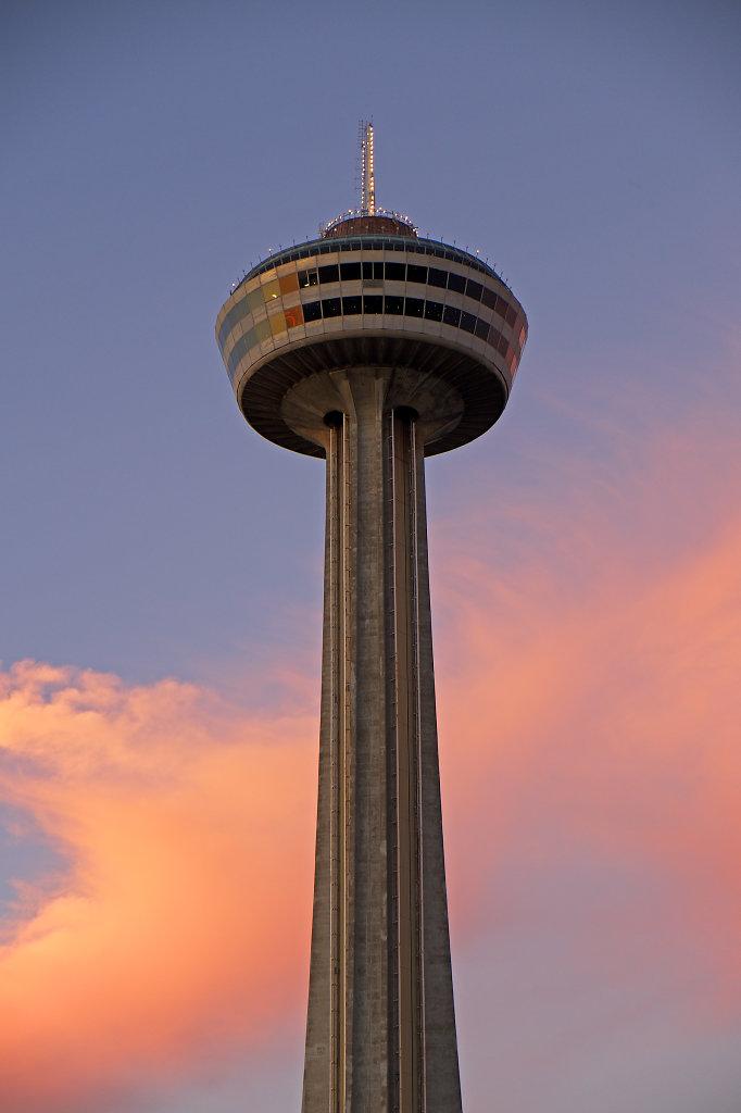 Skylon Tower at sundown