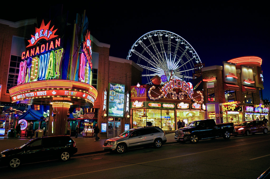 Clifton Hill at night (View #1)