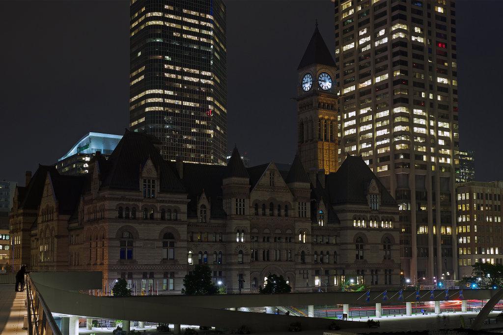 Toronto's Old City Hall at night